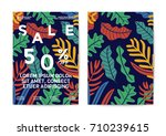 nature sale poster and flyer... | Shutterstock .eps vector #710239615