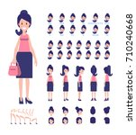 young lady character for your... | Shutterstock .eps vector #710240668