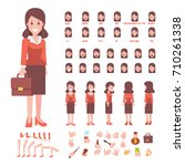 flat vector business lady.... | Shutterstock .eps vector #710261338