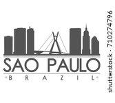 sao paulo skyline silhouette... | Shutterstock .eps vector #710274796