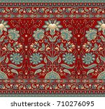 seamless traditional indian... | Shutterstock . vector #710276095