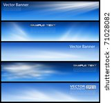 banners  headers blue clouds... | Shutterstock .eps vector #71028082