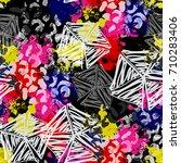 seamless pattern african design.... | Shutterstock . vector #710283406