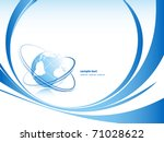 abstract vector background with ... | Shutterstock .eps vector #71028622