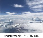aerial view of blue sky with... | Shutterstock . vector #710287186