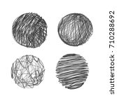 collection of hand drawn... | Shutterstock . vector #710288692