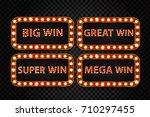 vector set of realistic... | Shutterstock .eps vector #710297455