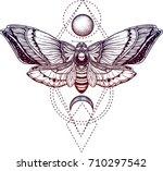 black and white deadhead... | Shutterstock .eps vector #710297542