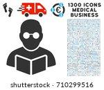 student read book grey vector... | Shutterstock .eps vector #710299516