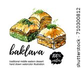 vector illustration baklava. ... | Shutterstock .eps vector #710300812