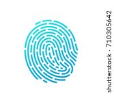 finger print vector icon | Shutterstock .eps vector #710305642