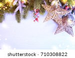 holiday christmas background  | Shutterstock . vector #710308822