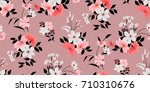 seamless floral pattern in... | Shutterstock .eps vector #710310676