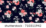 seamless floral pattern in... | Shutterstock .eps vector #710311942