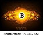 bitcoin digital currency ... | Shutterstock .eps vector #710312422