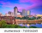 Shreveport, Louisiana, USA downtown skyline on the Red River.