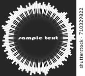 Piano Keys. The Abstract Circl...