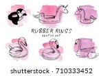 vector illustration. pen style... | Shutterstock .eps vector #710333452