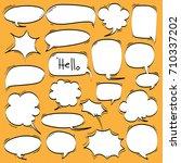 big set of cartoon  comic... | Shutterstock .eps vector #710337202