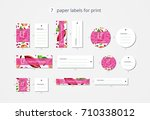 vector paper clothing labels... | Shutterstock .eps vector #710338012