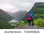 a young married couple is...   Shutterstock . vector #710340826
