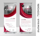 business roll up design... | Shutterstock .eps vector #710342686