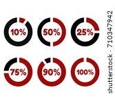 percentage rings | Shutterstock .eps vector #710347942