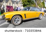 GRANTOWN ON SPEY, SCOTLAND - September 3 2017: Classic Jensen Interceptor at a Vintage Rally - stock photo