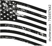 grunge american flag. vintage...   Shutterstock .eps vector #710357662
