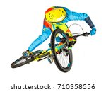 mountain bike freeride downhill ... | Shutterstock . vector #710358556