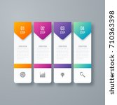 business infographics template... | Shutterstock .eps vector #710363398