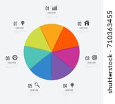 infographics template 7 options ... | Shutterstock .eps vector #710363455
