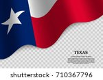 waving flag of texas is a state ... | Shutterstock .eps vector #710367796