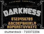 font script typeface vector ... | Shutterstock .eps vector #710372206