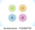 abstract creative multiple... | Shutterstock .eps vector #710384752