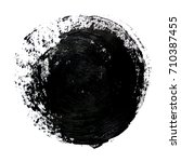 grunge circle. vector black... | Shutterstock .eps vector #710387455