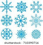 vector snowflake on isolated... | Shutterstock .eps vector #710390716
