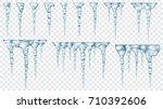 set of translucent light blue... | Shutterstock .eps vector #710392606