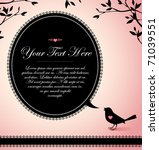 vintage design of a bird with a ... | Shutterstock .eps vector #71039551