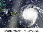 hurricane irma is heading... | Shutterstock . vector #710399056