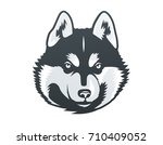 siberian husky head vector... | Shutterstock .eps vector #710409052