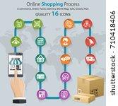 internet shopping infographic... | Shutterstock . vector #710418406
