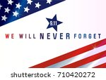 patriot day. september 11. we... | Shutterstock .eps vector #710420272