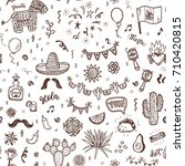 vector seamless pattern with... | Shutterstock .eps vector #710420815