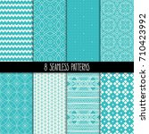 set of eight different... | Shutterstock .eps vector #710423992
