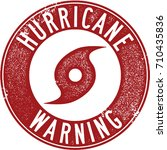 hurricane warning severe... | Shutterstock .eps vector #710435836