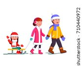 happy family couple with child... | Shutterstock .eps vector #710440972