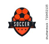 soccer or football team emblem... | Shutterstock .eps vector #710452135
