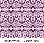 vector monochrome seamless... | Shutterstock .eps vector #710458042