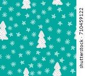 new year seamless pattern.... | Shutterstock .eps vector #710459122